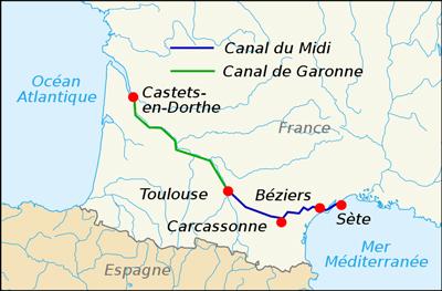 Canal du Midi carte