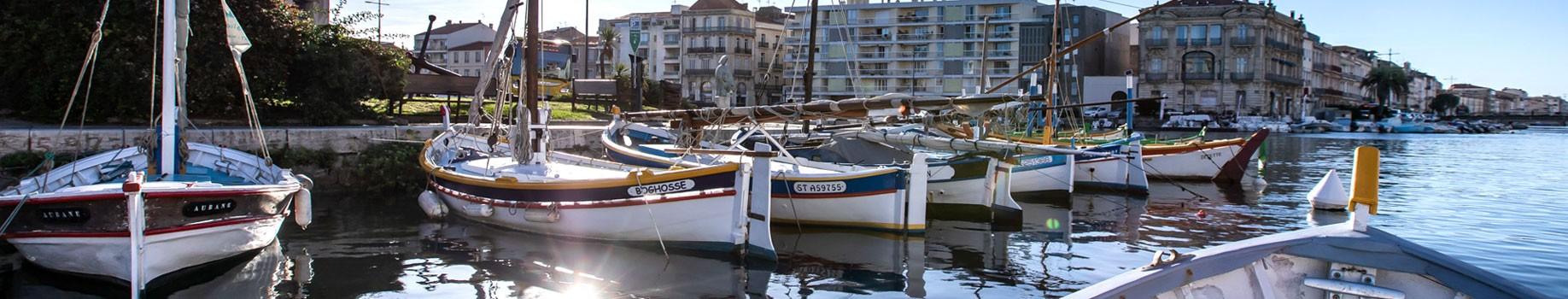 Barques et canaux de Sète