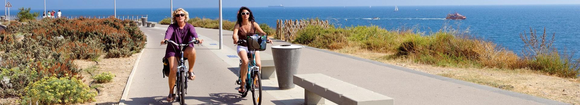 corniche à vélo