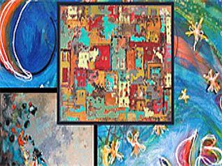 Tentoonstellingen van de kunstenaars en galerieën