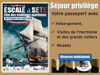 Réservez votre séjour Escale à Sète