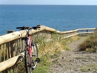 Aller à la plage à vélo