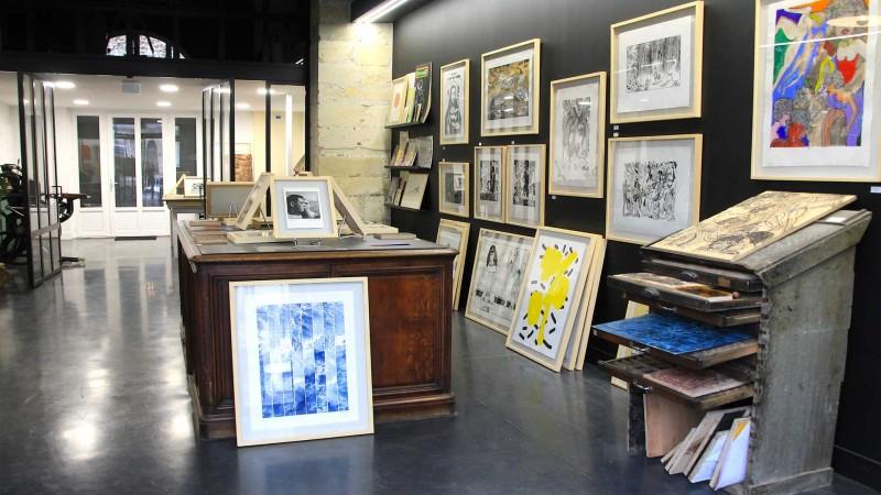 Galerias de arte e estúdios de artistas