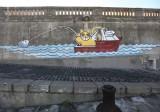 Maco K live Musee a ciel ouvert Sete 2010  street art peinture Monsieur Chat