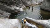 Office des Moniteurs du Languedoc rappel toboggan dans le canyon du Caroux