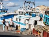 Famille bateaux criee Sete