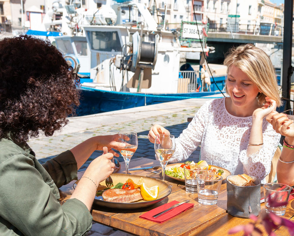 restaurant que les quais de Sète